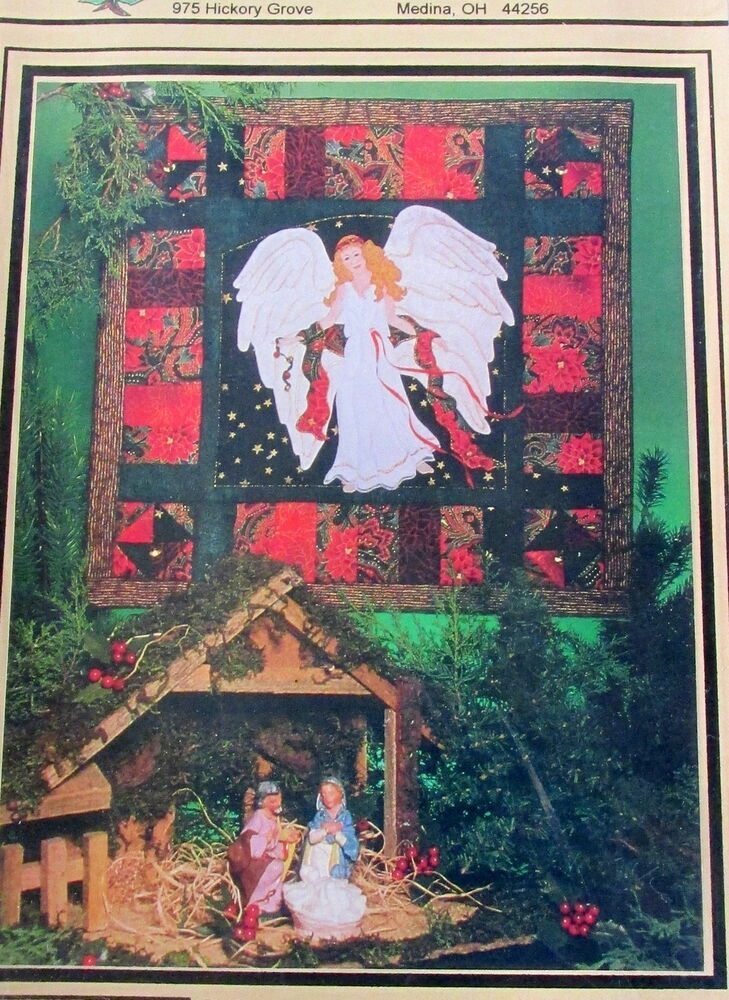 Christmas Angel Quilt Wallhanging Pattern Machine Applique