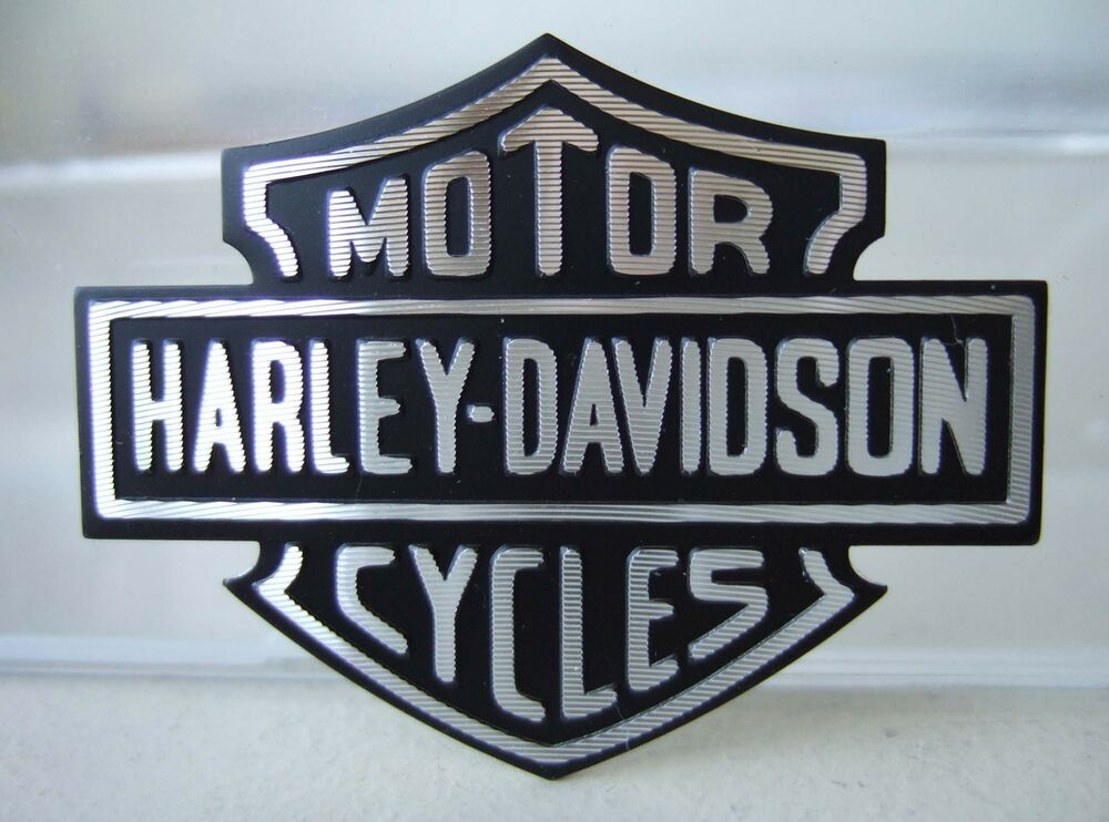 harley davidson aufkleber emblem bar shield aluminium. Black Bedroom Furniture Sets. Home Design Ideas
