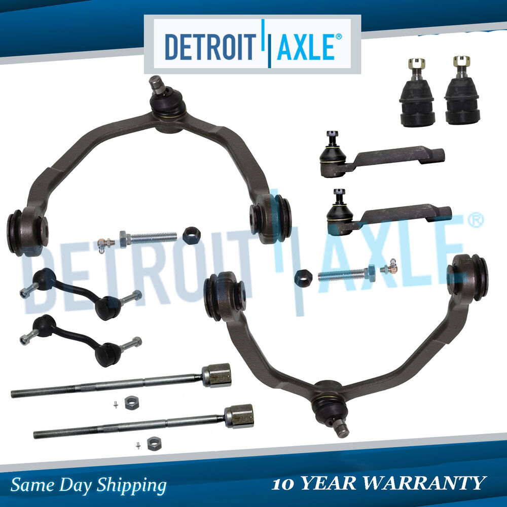 1993 Ford Thunderbird Exterior: 10pc Front Upper Control Arm Kit For 1993-1997 Ford