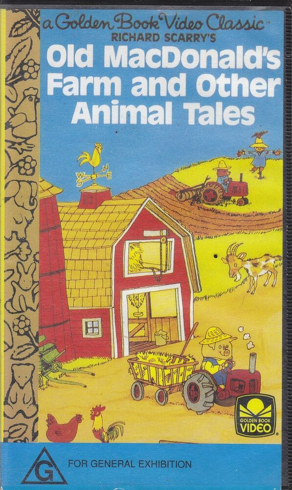 Sell Vhs Tapes >> PAL VHS VIDEO TAPE : GOLDEN BOOK,RICHARD SCARRY'S OLD ...