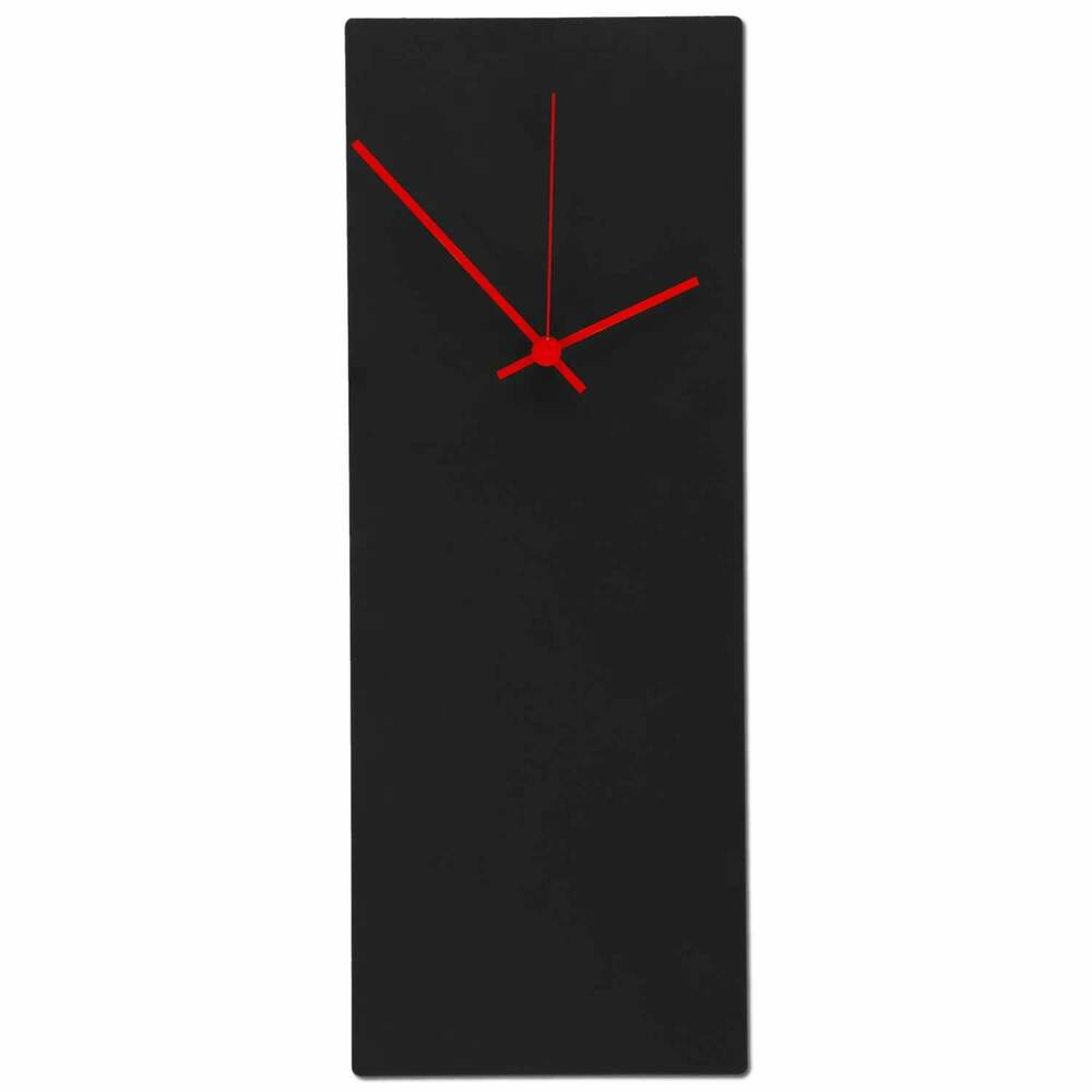 Large midcentury modern wall clock minimalist black metal for Minimalist art decor