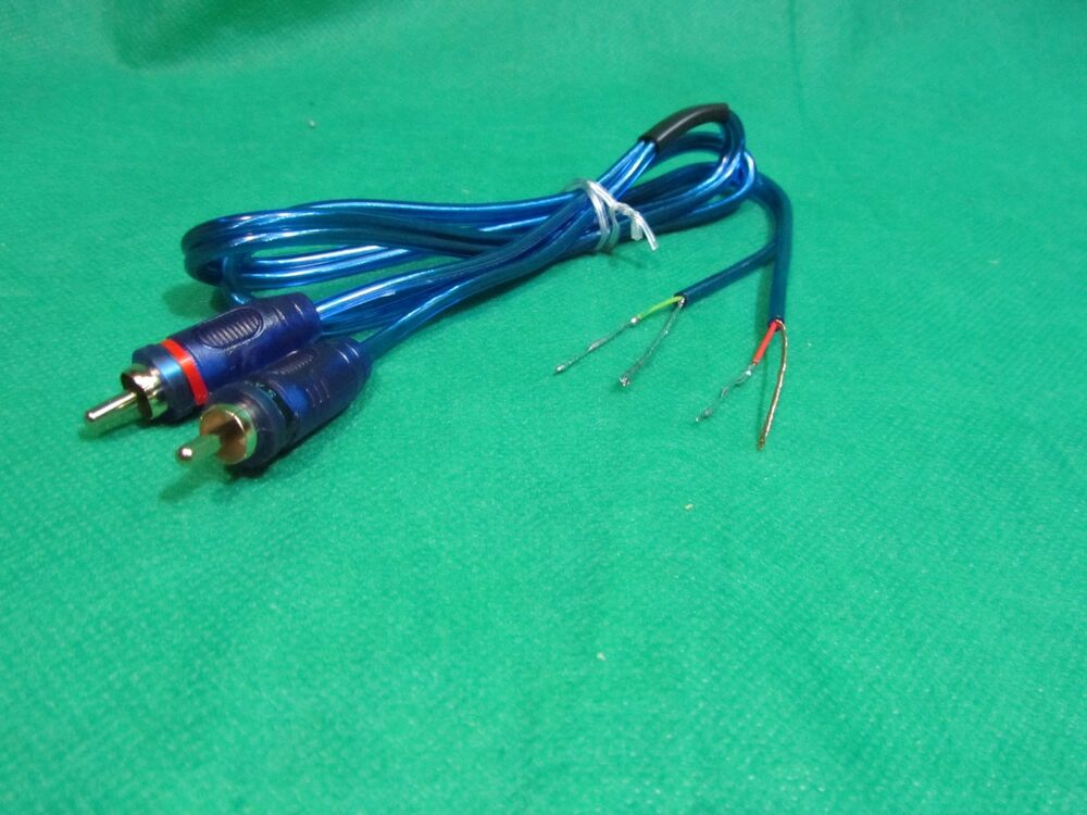 2 Channel Speaker to Gold RCA Amp Receiver Powered Speakers wire ...