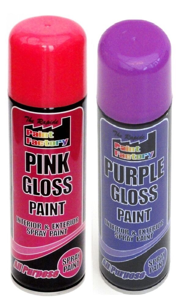 All Purpose Purple Pink Gloss Spray Cans 250ml Spray Paint Interior Exterior Ebay