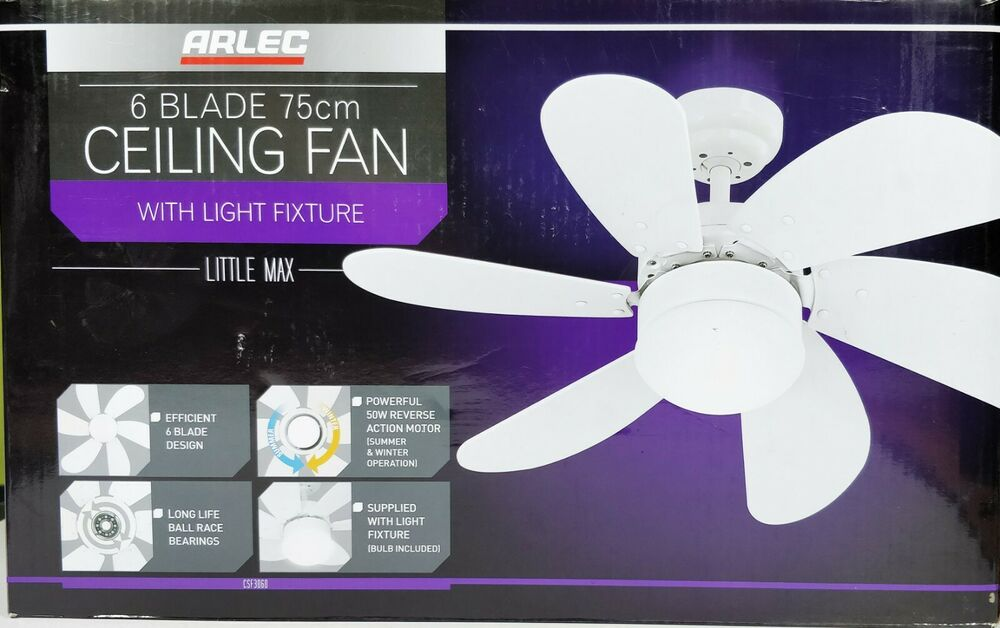 Little Max 75cm 6 Blade Ceiling Fan With Light