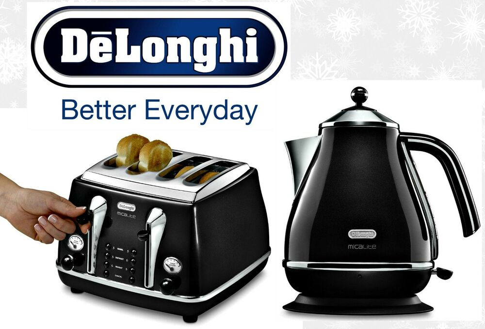 4 Slice Toaster Black Kettle and Toaster Sets Delonghi Icona 4 Slice Toaster and ...