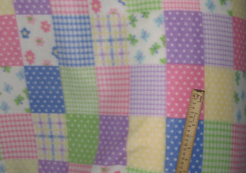 New polar fleece baby spring floral nursery patch print for Nursery print fabric