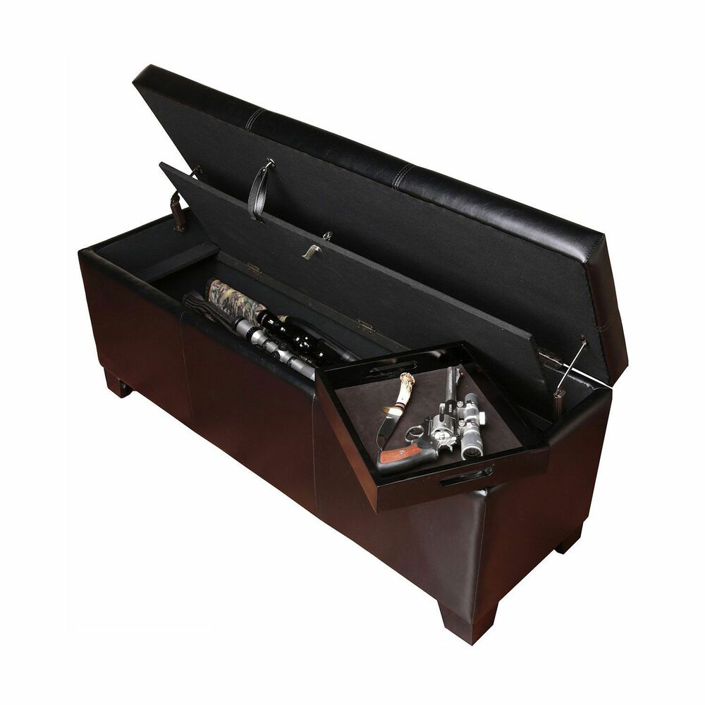 Entryway Bench Gun Concealment Storage Compartment Hidden