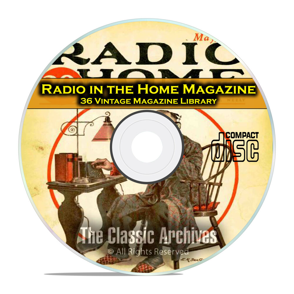 Radio in the home 36 vintage old time radio magazine for Classic house cd
