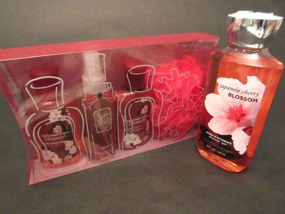 New bath and body works japanese cherry blossom gift set