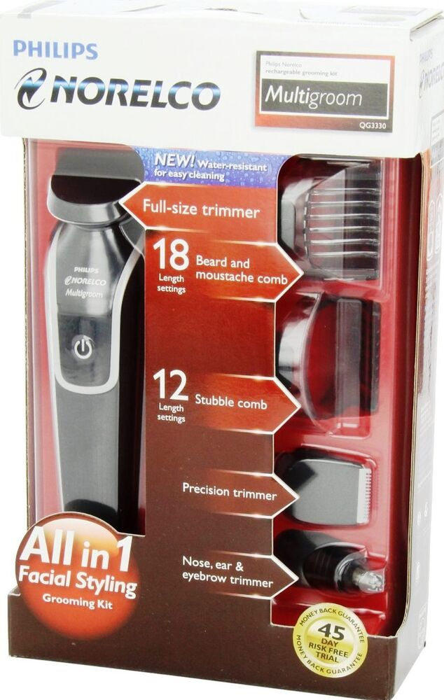 new philips norelco multigroom grooming kit rechargeable beard shave ear trimmer ebay. Black Bedroom Furniture Sets. Home Design Ideas