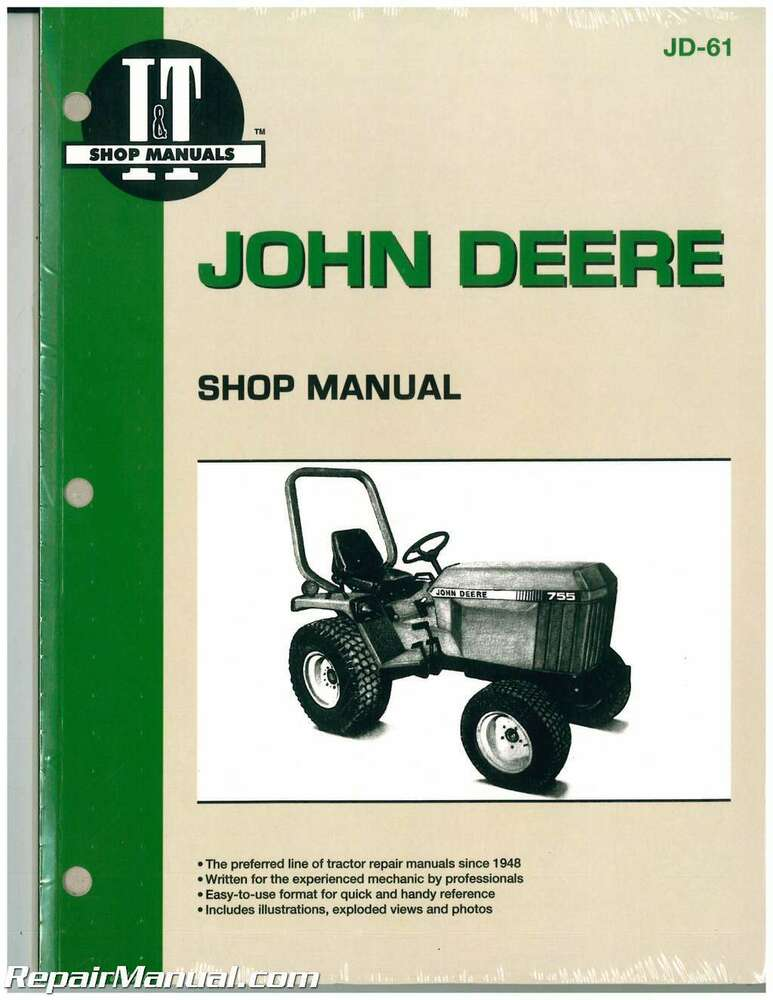 john deere 655 755 756 855 856 955 tractor workshop manual. Black Bedroom Furniture Sets. Home Design Ideas