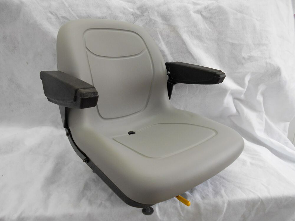 Gravely Replacement Seat : Gray seat with arm rests hustler dixie chopper jacobsen