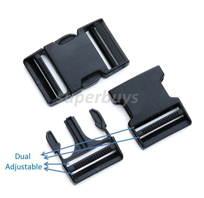 Mm dual adjustable side quick release buckle clip cord