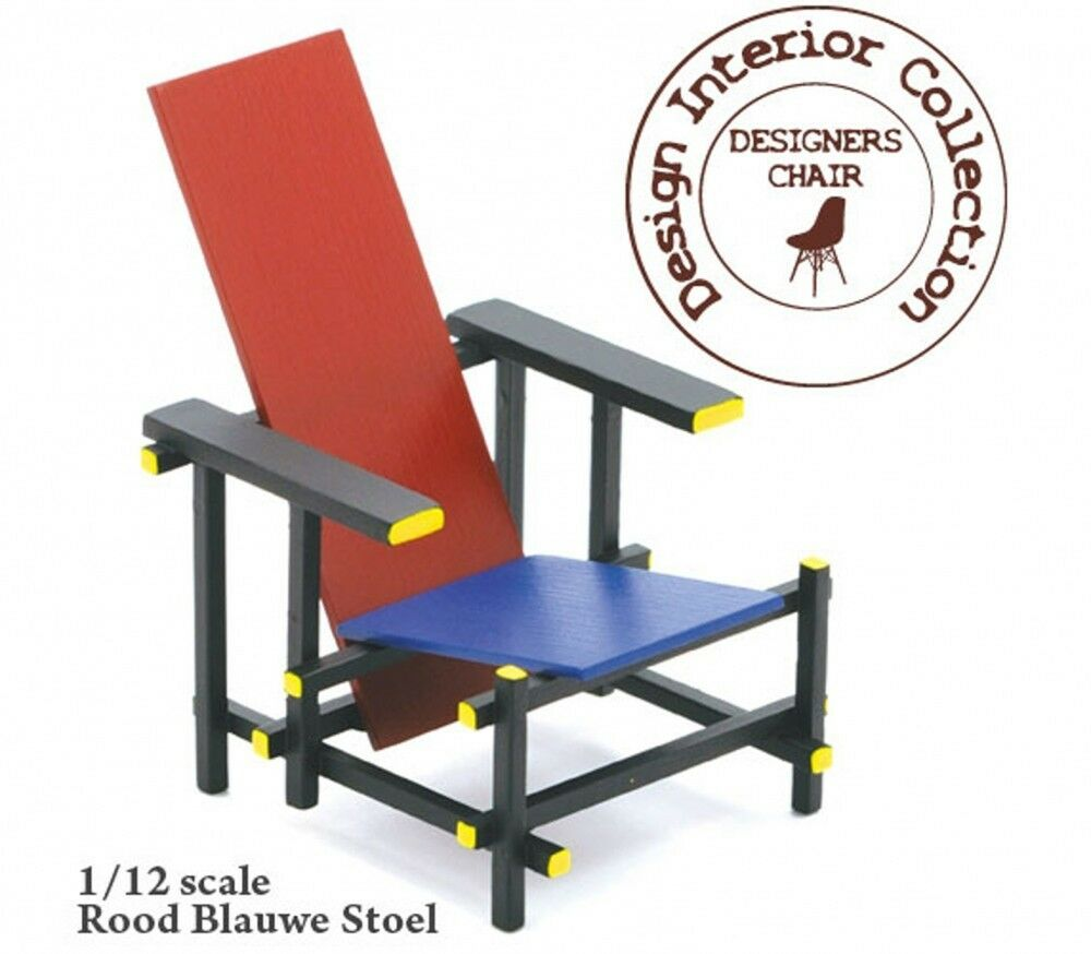 Reac Japan Design Interior Collection 1 12 Scale Miniature Chair Rietveld Ebay