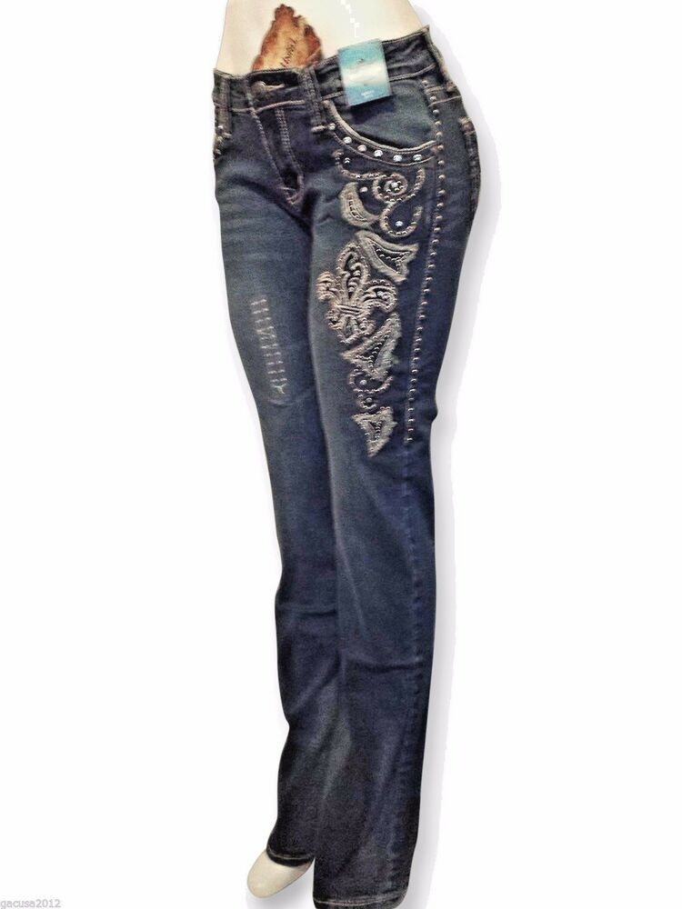 Montana West Trinity Ranch Discontinued Designer Jeans Western Boot Cut Juniors Ebay