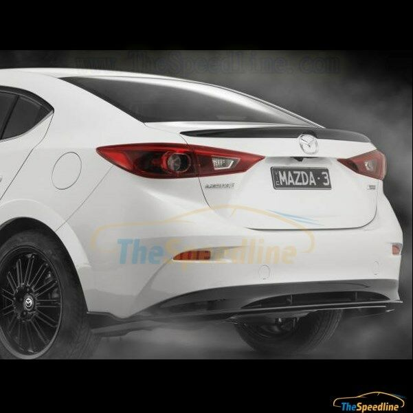 14 15 16 Mazda3 4d Sedan Lip Duck Tail Rear Trunk Spoiler