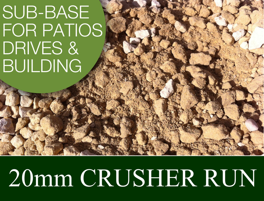 20mm Limestone Crusher Run Sub Base Patios Driveways