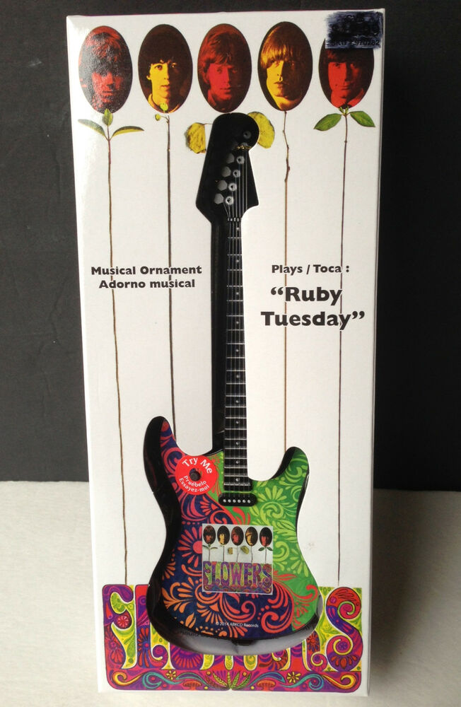 The Rolling Stones Musical Ornament Guitar Plays Quot Ruby