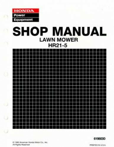honda lawn mower shop manual