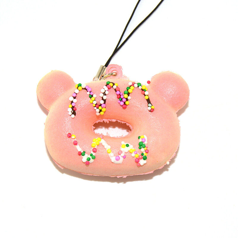 Chocolate Bear Squishy : Bear Squishy Cream Scented Donuts Chocolate Soft Sweet Bread Straps Phone Charms eBay