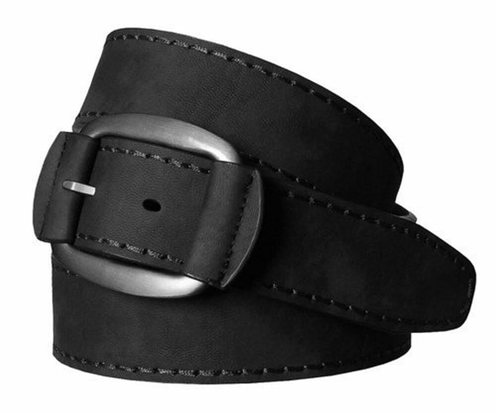 mens leather belt nubuck look bonded leather and