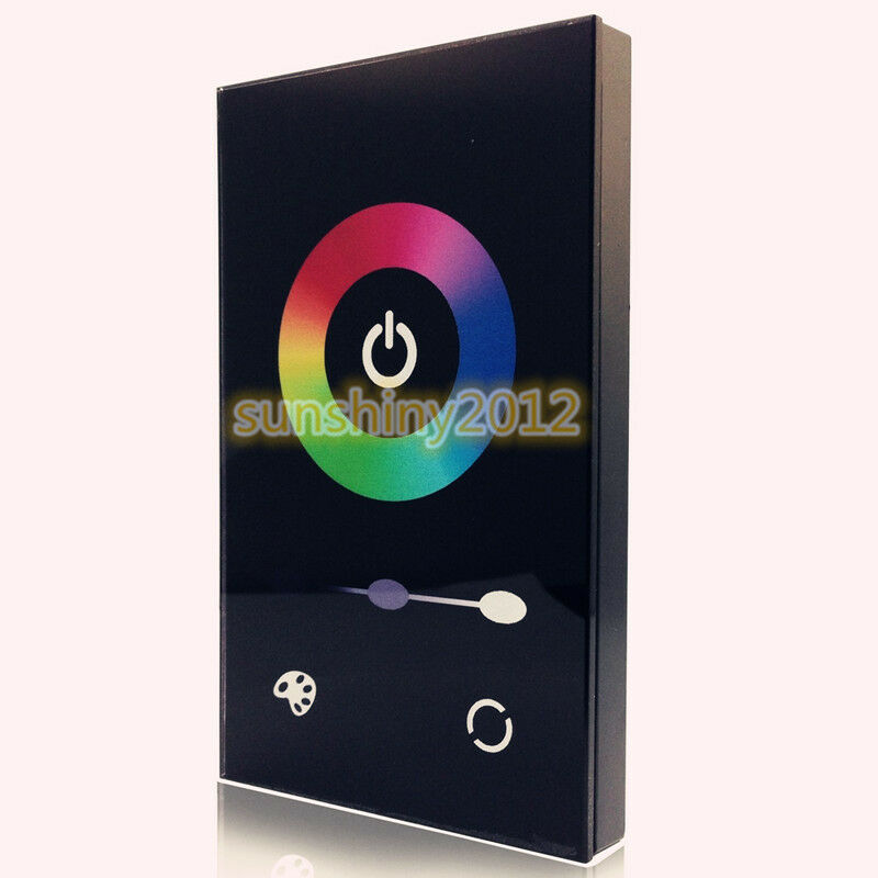 Touch Panel Controller Dimmer Wall Switch FOR 5050 RGB LED Strip light BK TM08U eBay