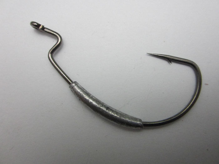 8x Fishing Swim Bait Hook Extra Wide Gap Weighted Worm