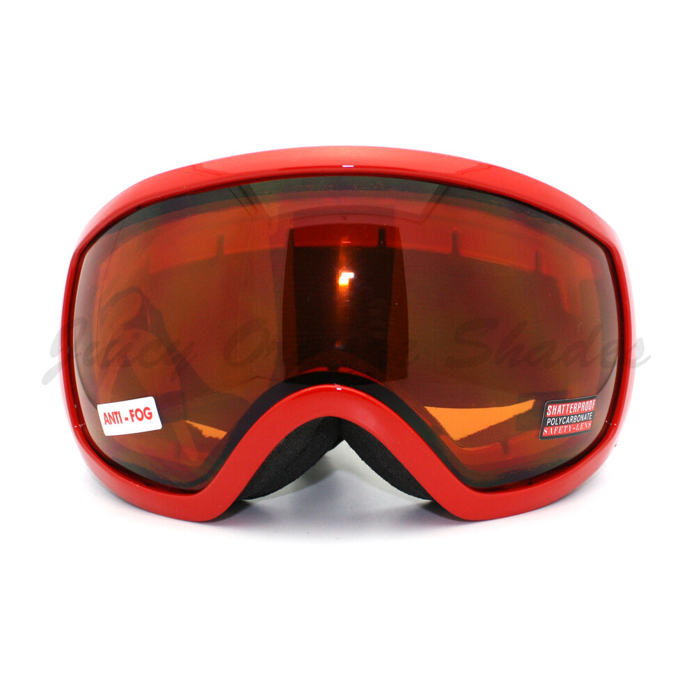 Large Shield Style Ski Snowboard Goggles Anti Fog Double ...