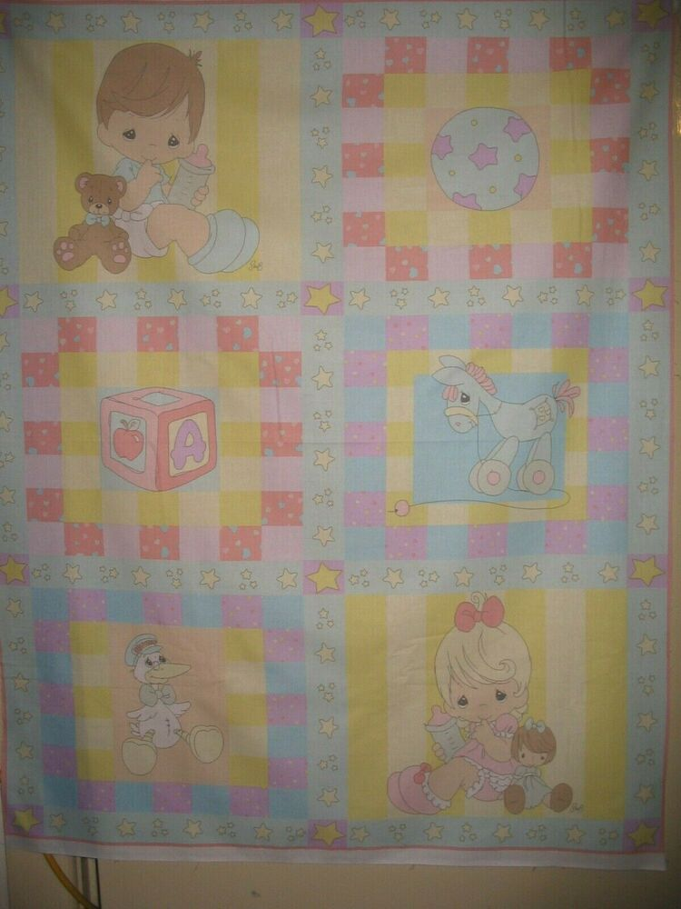 Precious Moments Baby Girl Boy Design Cotton Quilting