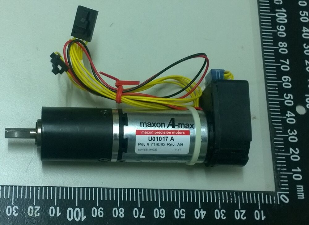 Maxon a max u01017a 719083 dc servo motor w heds 5540 a02 for Dc servo motor with encoder