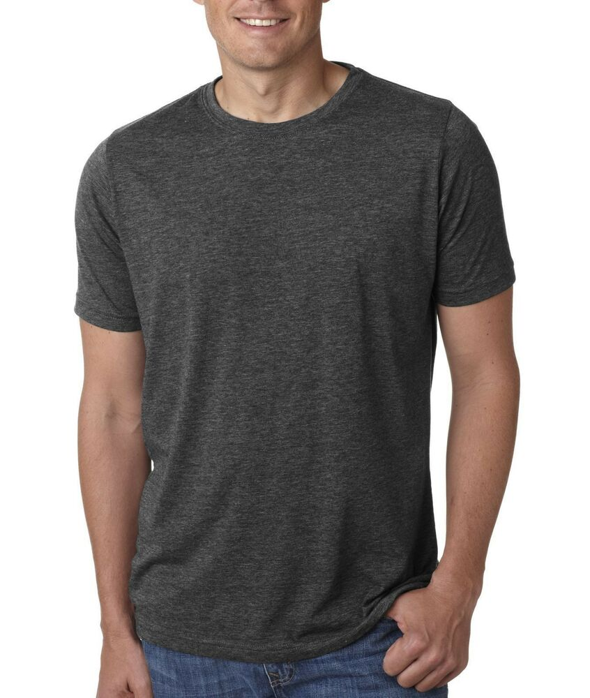 next level t shirt nl6200 plain men 39 s poly cotton tee ebay. Black Bedroom Furniture Sets. Home Design Ideas