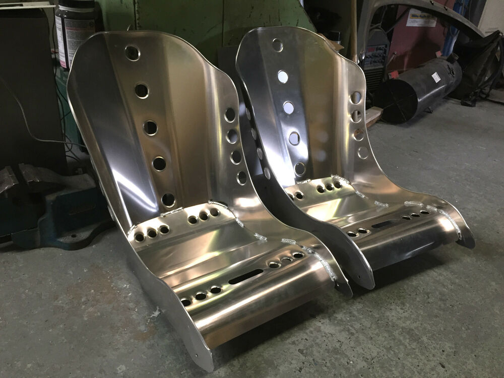 aluminium bucket seat high top bomber pair hot rod custom available ebay. Black Bedroom Furniture Sets. Home Design Ideas