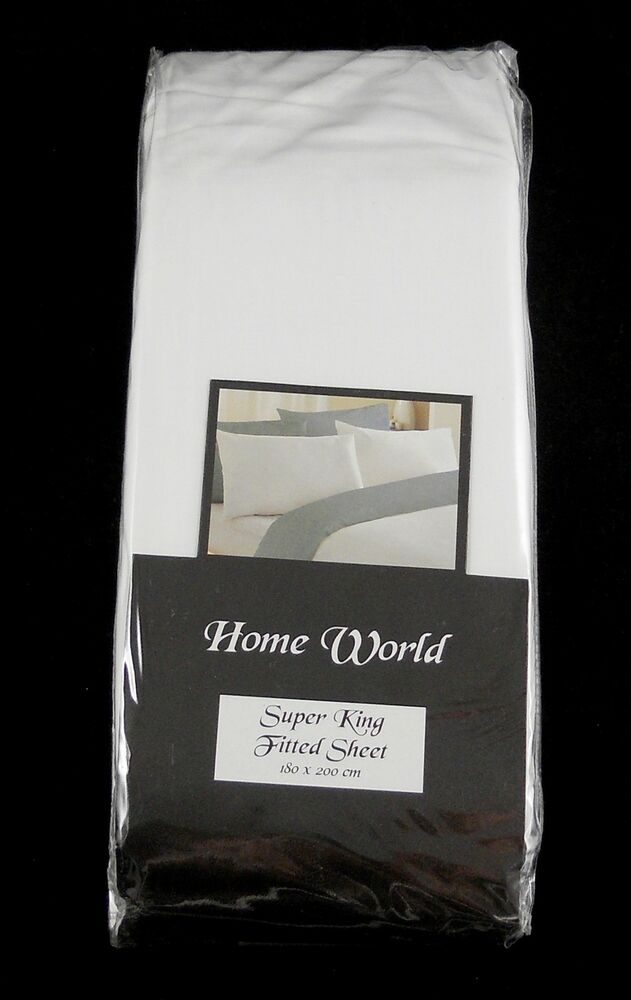 cheap super king size fitted sheet 10 deep off white ebay. Black Bedroom Furniture Sets. Home Design Ideas