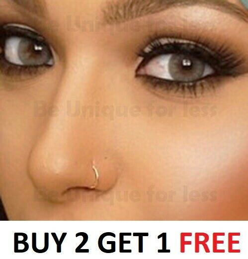thin 0 7mm sterling silver nose ring small nose hoop