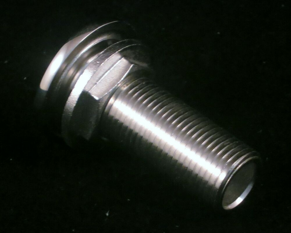 New quot thread cast stainless steel polished boat thru
