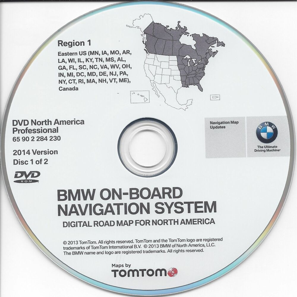 Bmw On Board Road Map Update Dvd North America