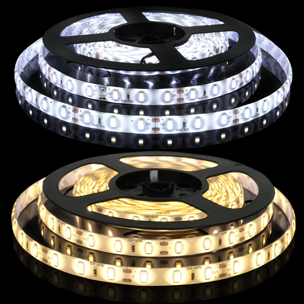 5m 300 led strip light 3528 5050 5630 smd 12v led flexible. Black Bedroom Furniture Sets. Home Design Ideas