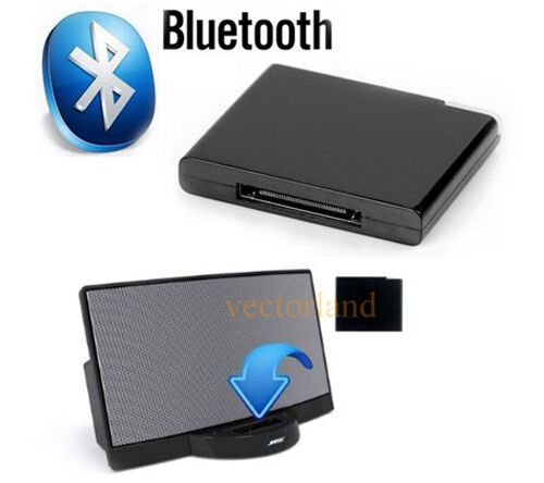 wireless bluetooth music receiver adapter fr e sound dock. Black Bedroom Furniture Sets. Home Design Ideas