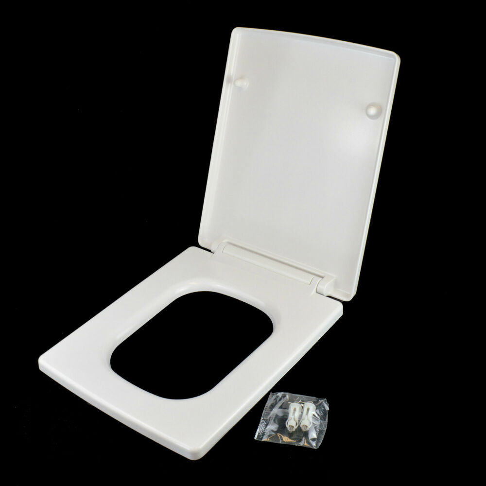 sadie luxury square soft close heavy duty toilet seat with. Black Bedroom Furniture Sets. Home Design Ideas