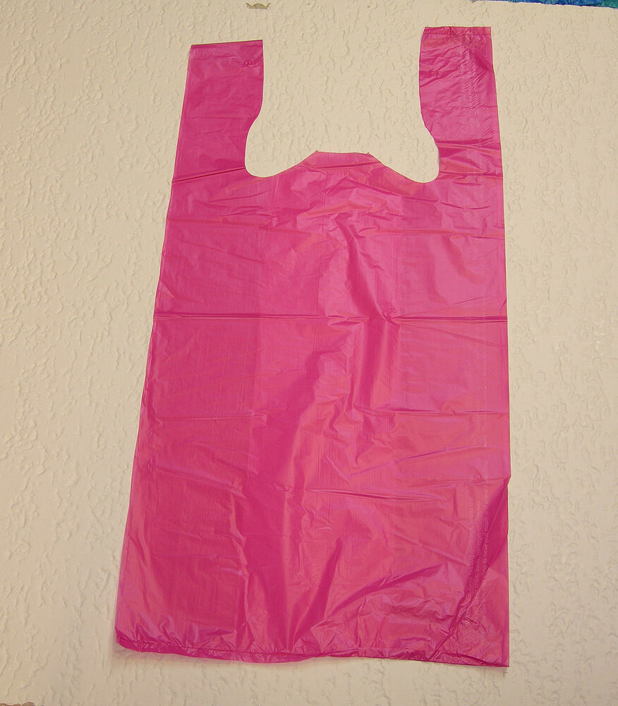 plastic t shirt bags with handles you pick lot colors