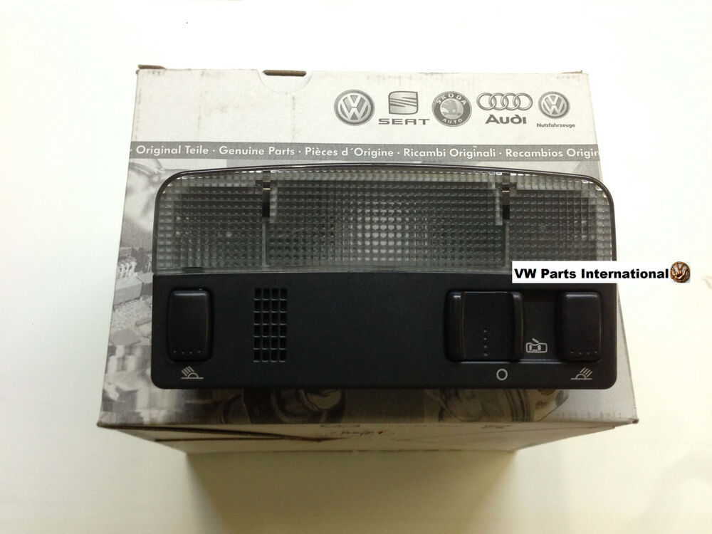 vw golf mk4 gti r32 black interior reading light genuine new oem vw part ebay. Black Bedroom Furniture Sets. Home Design Ideas