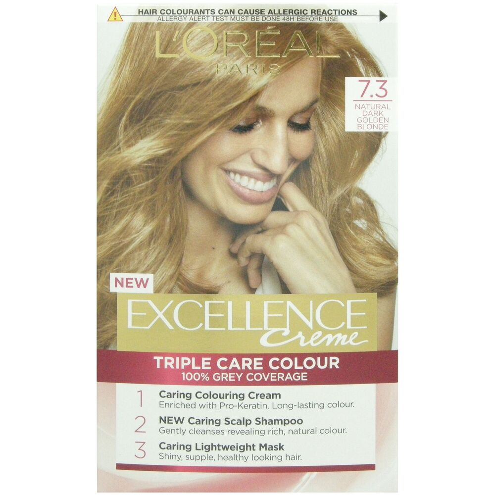 L Oreal Excellence Creme 7 3 Natural Dark Golden Blonde Ebay