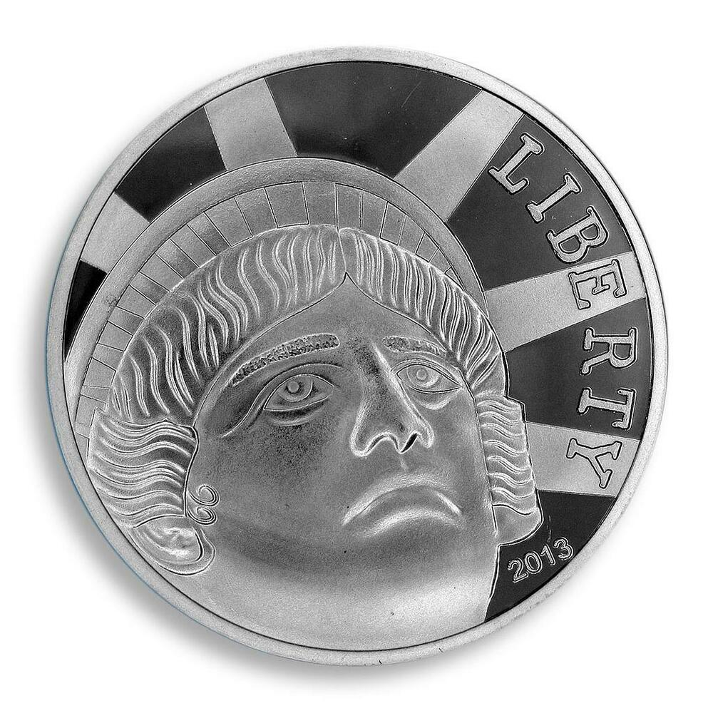 Liberty Coin German Silver Plated Usa 1 Oz 2013 Token