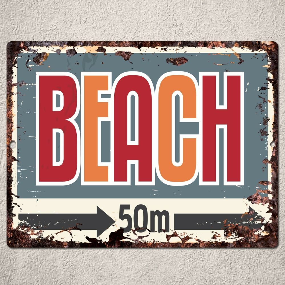 Restaurant Bar Wall Decor : Pp rustic beach parking plate sign bar pub cafe