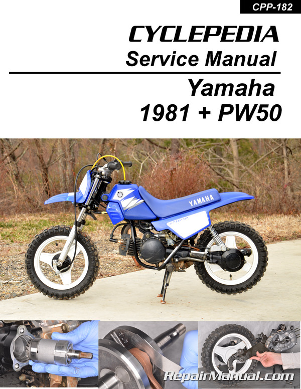 Pw50 Yamaha Motorcycle Printed Service Manual Cyclepedia