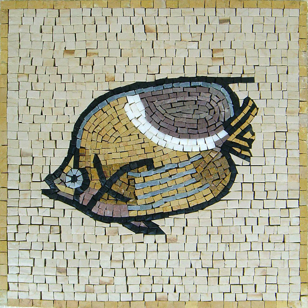 Fish kitchen pool garden home design marble mosaic an418 for Mosaic home decor