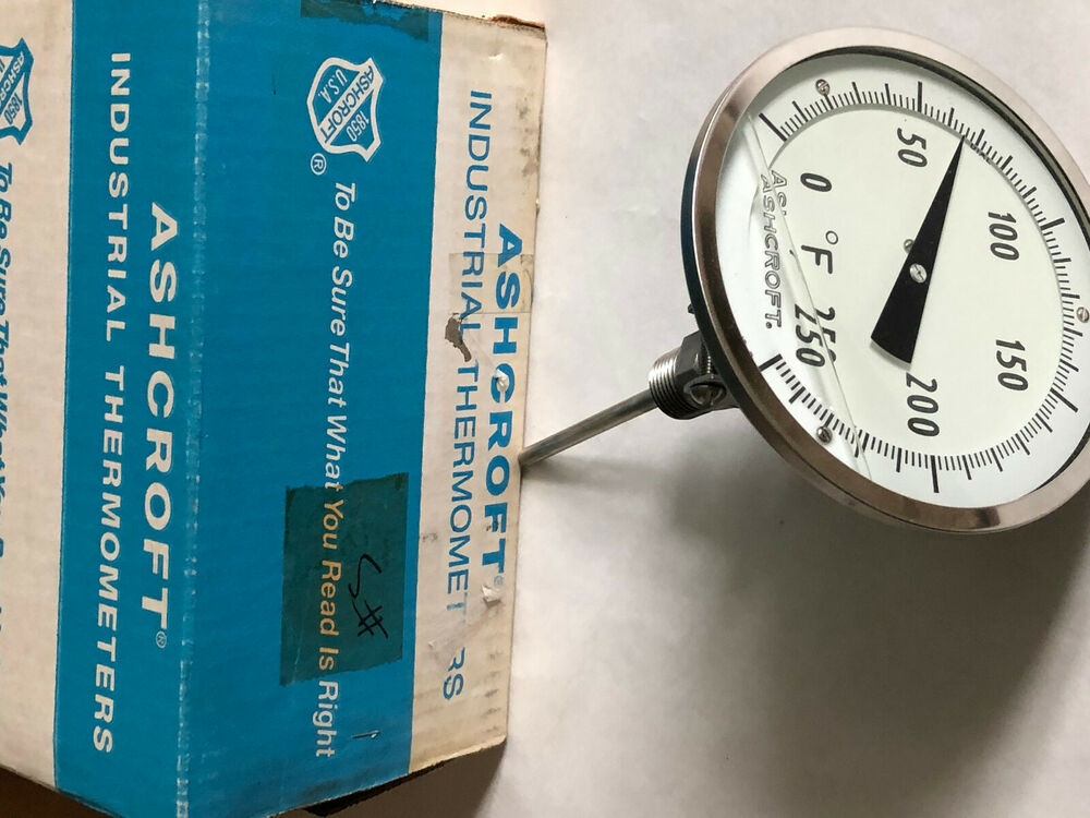 New ashcroft thermometer bi metal 4in stem 5in silicon liq for Poolthermometer obi