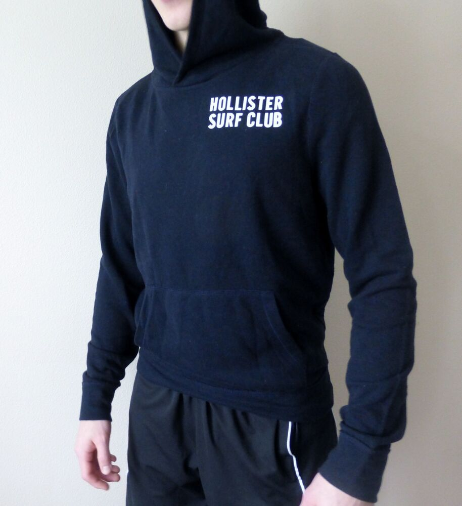Men's Hollister Hoodie Dark Blue Medium NEW!