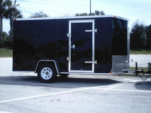 New 6x12 Enclosed Trailer Cargo V Nose Utility Motorcycle
