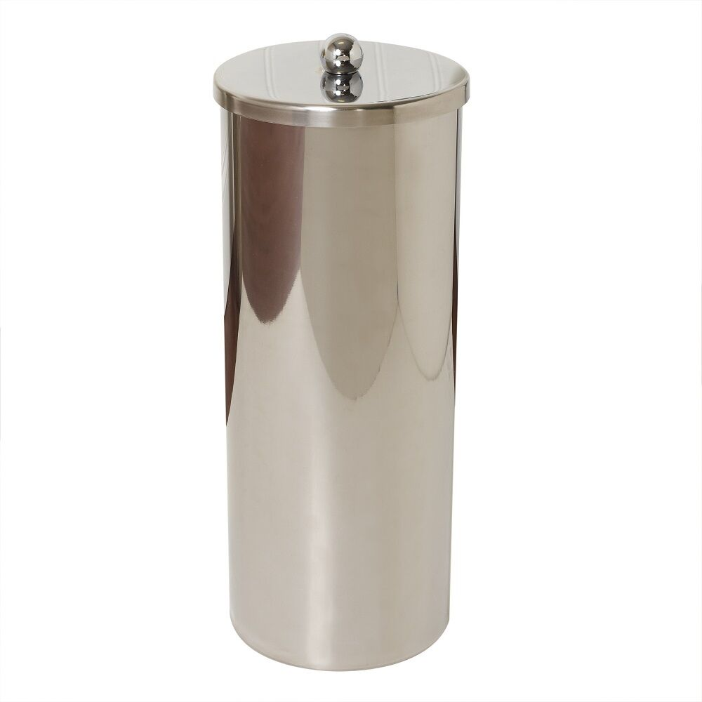 Zenith 7666st toilet paper canister stanless factory blemished save ebay - Toilet roll canister ...
